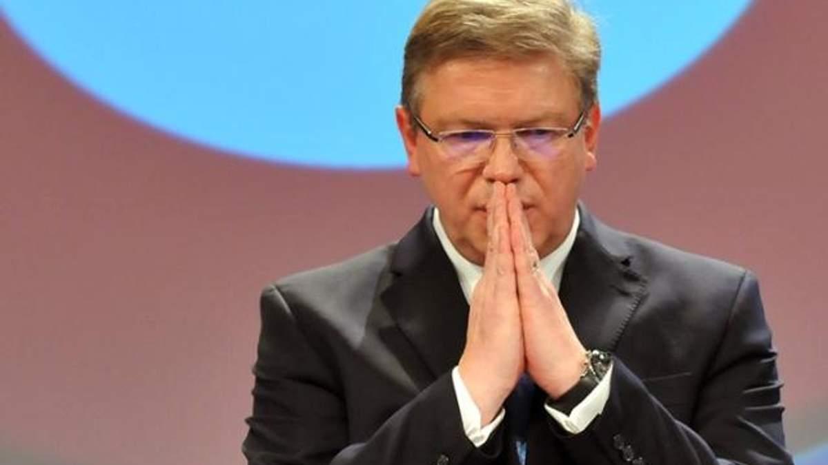 ЄС шкодує через припинення підготовки до підписання Угоди про асоціацію, - Фюле