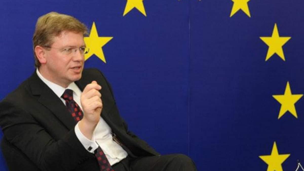 Фюле считает невероятной сумму, которую требует Украина