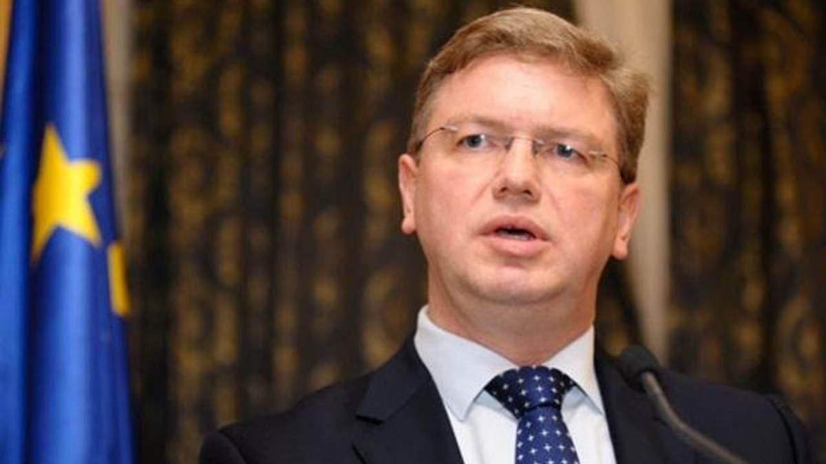 Фюле звинуватив українську сторону у відсутності прогресу щодо безвізового режиму