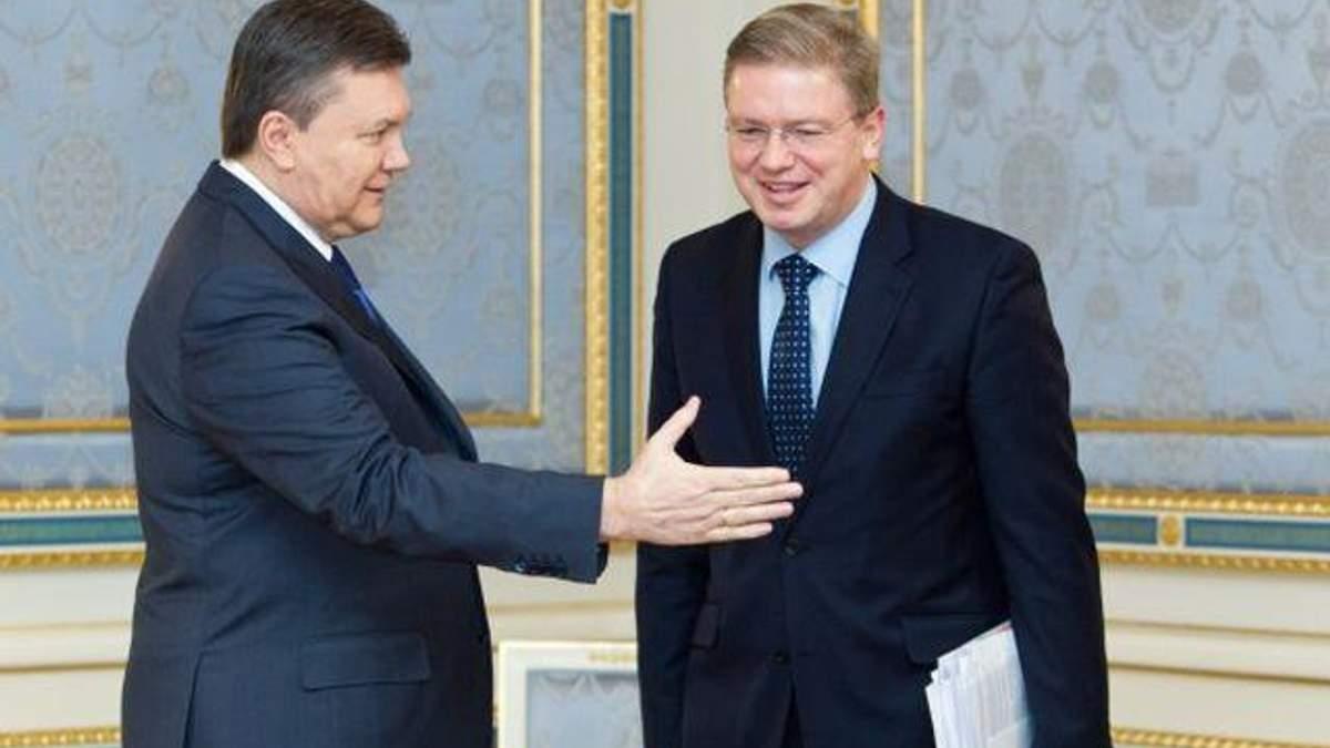 Янукович поговорив з Фюле про врегулювання кризи в Україні