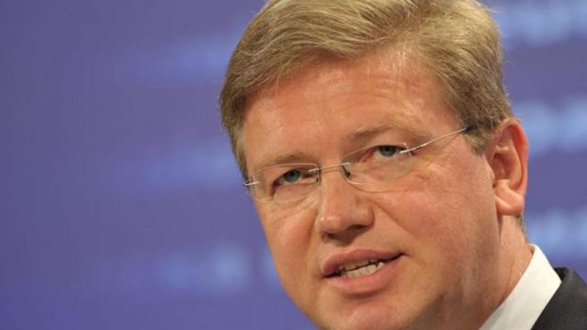 Арбузов пообещал Фюле сделать все, чтобы силовики не использовали оружие против активистов