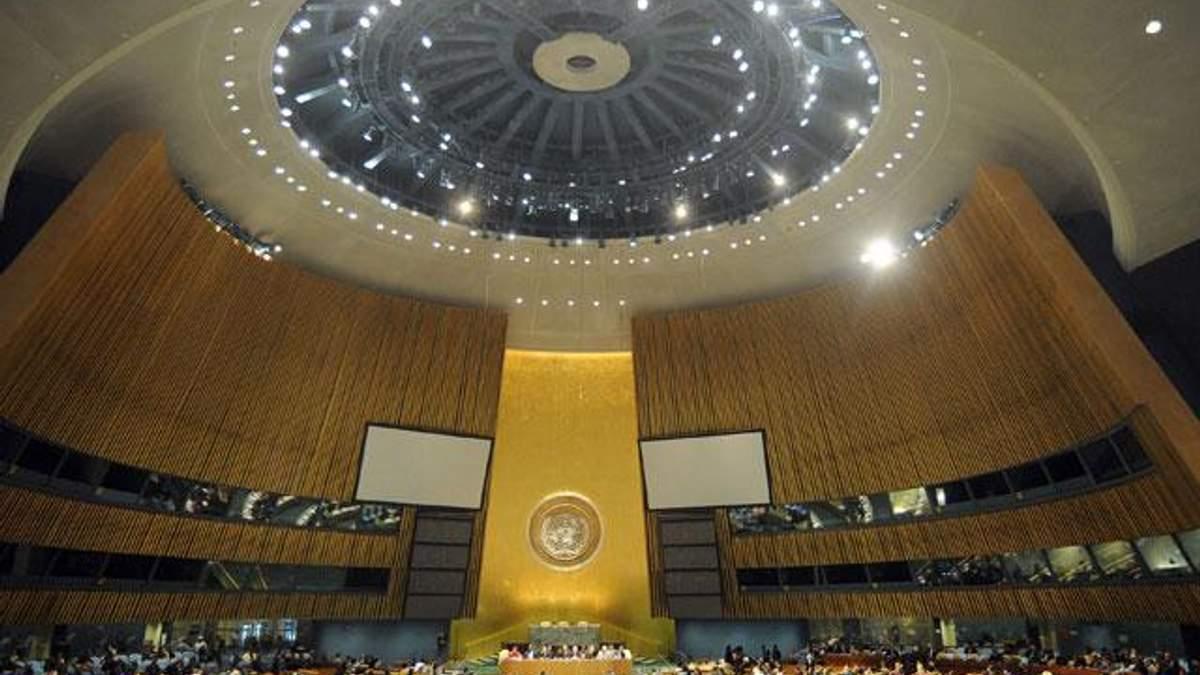 Генасамблея ООН ухвалила резолюцію про територіальну цілісність України
