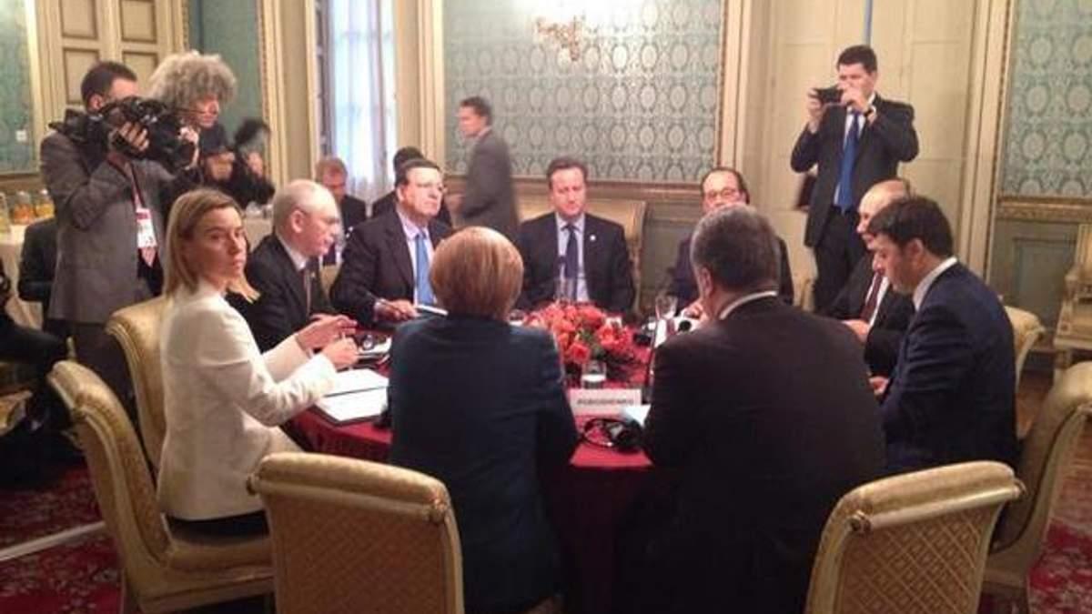 У Мілані завершились переговори за участю Порошенка та Путіна