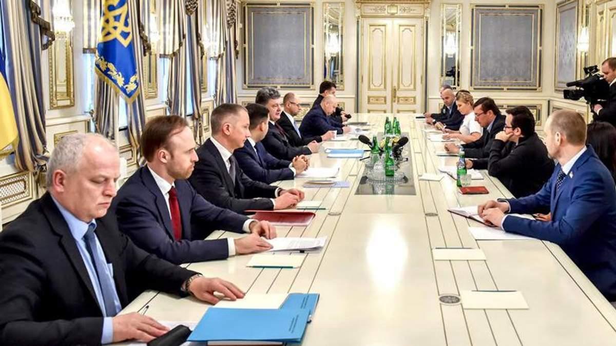 Встреча Президента с представителями фракций коалиции