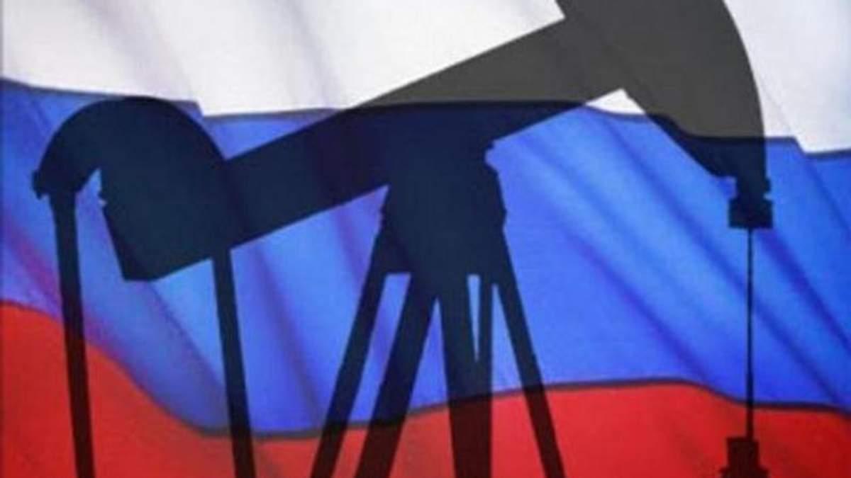 Доходи Росії від експорту нафти знизились на 42%