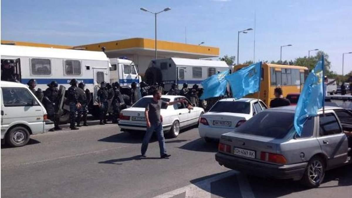 Задержание и разгон: ОМОН напал на митинг крымских татар
