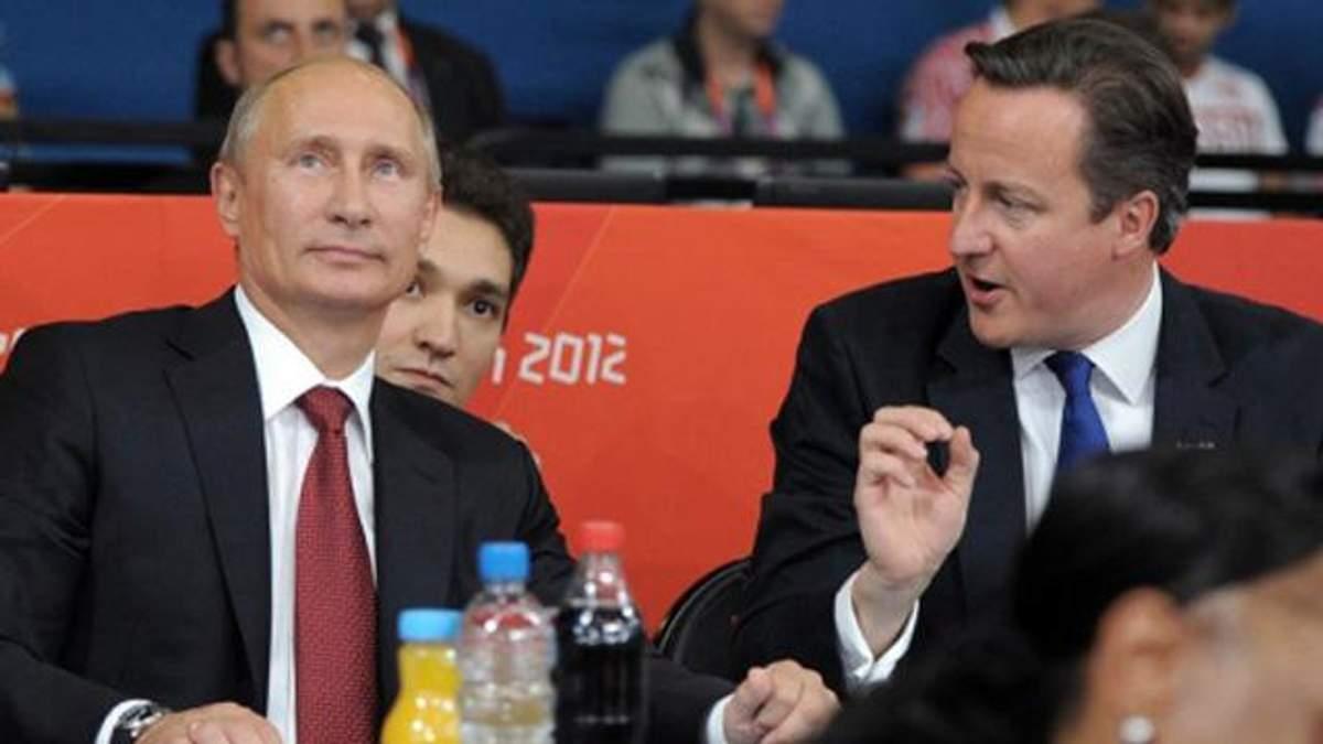 Путін вперше за два роки зідзвонився з Камероном