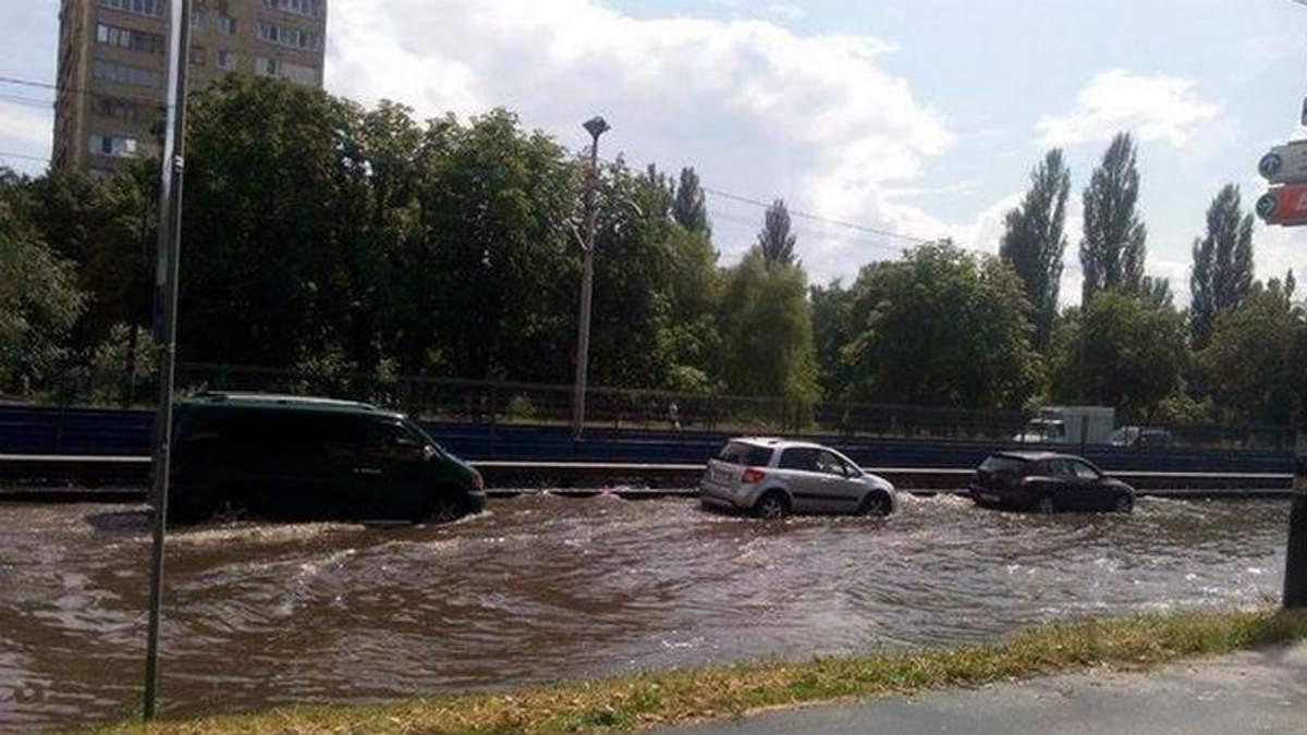 Киев в воде. Столицу накрыл сильный ливень