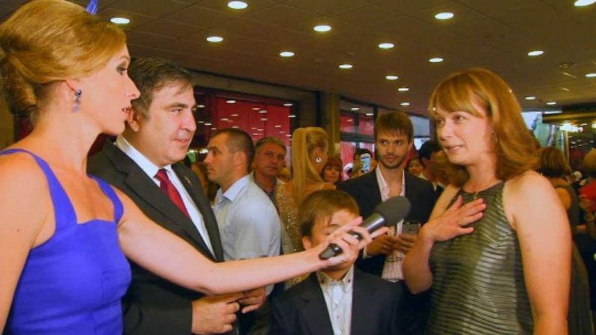 Саакашвили привез в Одессу жену и сына