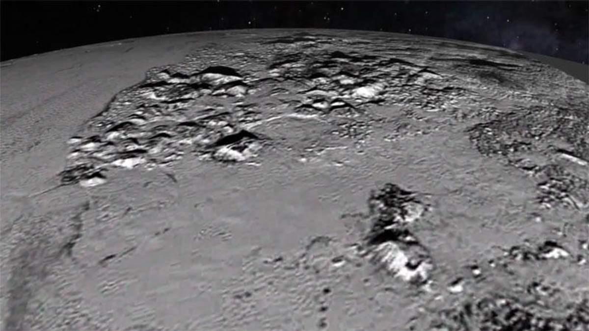 Появилось первое видео с поверхности Плутона