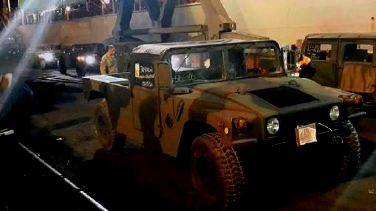 Военная помощь от США уже в Украине
