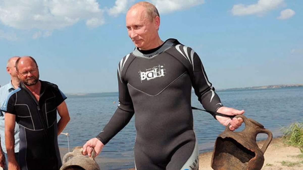 Путин снова едет искать крымские амфоры