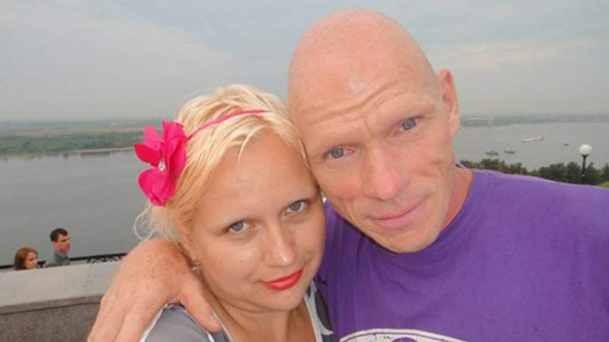 Олег Бєлов з дружиною