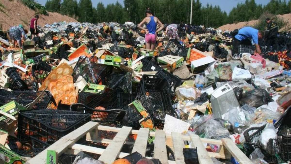 Россия уничтожает санкционные продукты