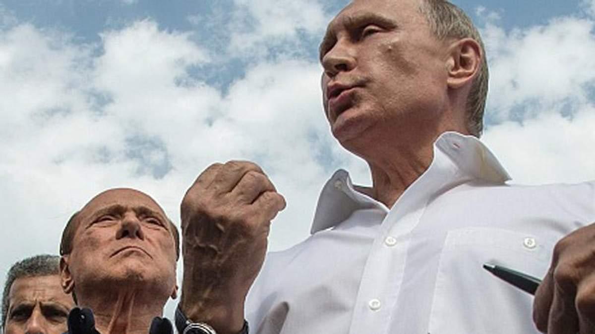 Берлусконі і Путін в Криму