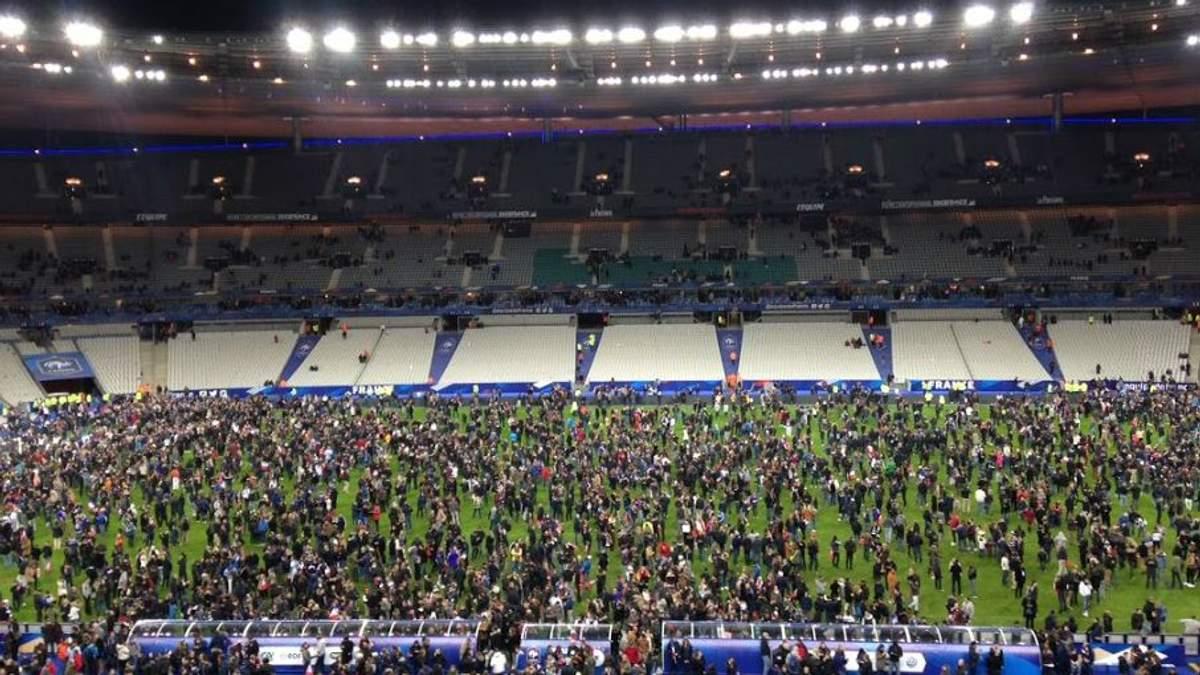 Вибух у Парижі зчинив паніку на футбольному матчі між Францією та Німеччиною: відео