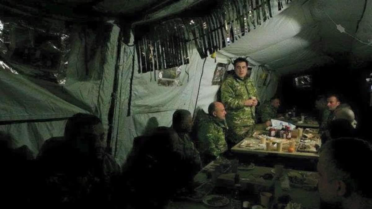 Саакашвілі злив в мережу позиції українських бійців
