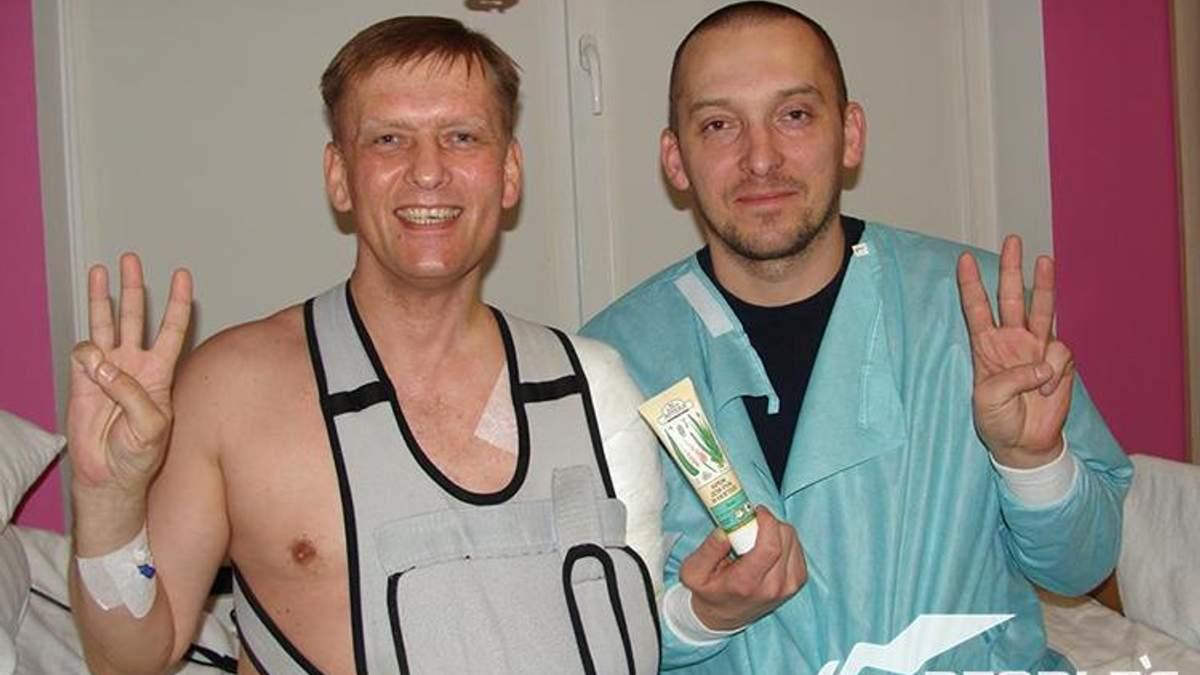 Святослав-Андрій Грушевський (ліворуч)