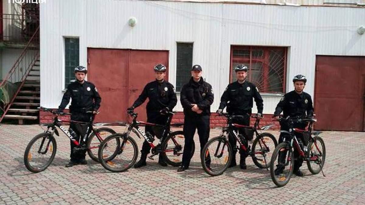 Полицейский велопатруль появился в Тернополе