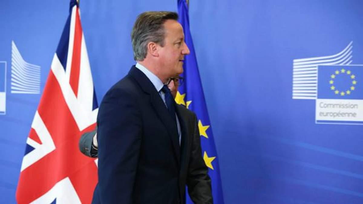 Кэмерон объявил об отставке сразу после референдума