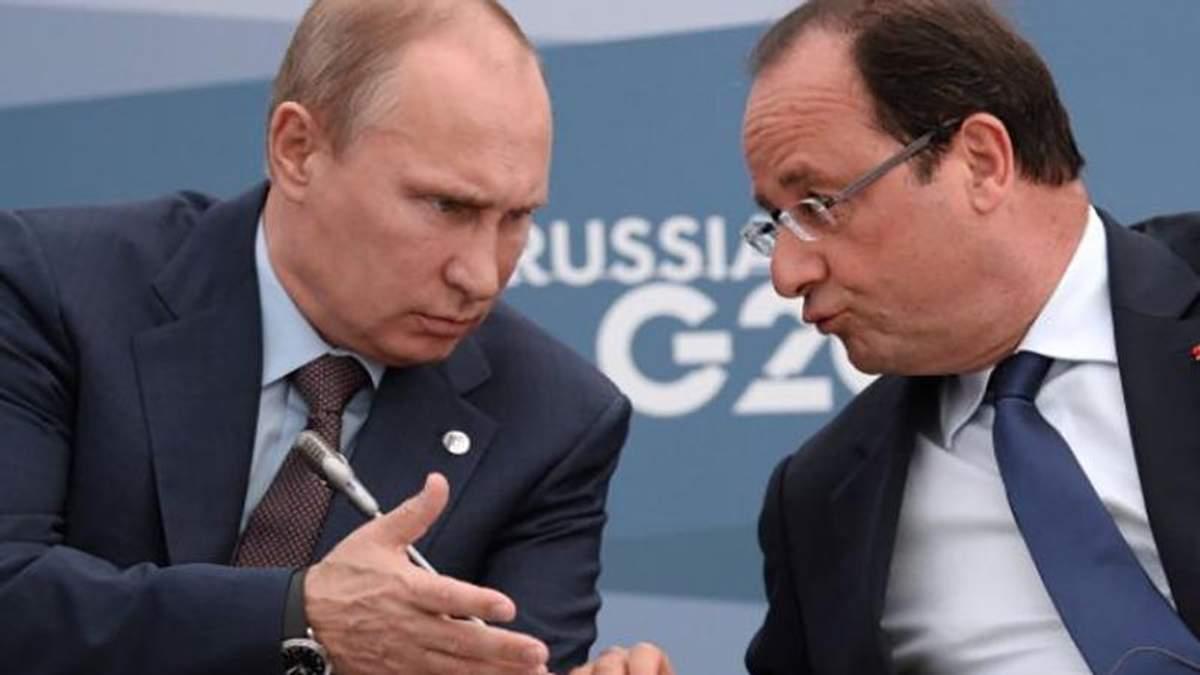 """Путін подзвонив Меркель та Олланду і попросив активніше """"впливати"""" на Порошенка"""