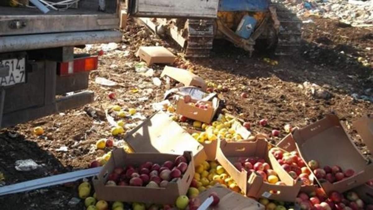 У Росії знову чавили продукти: цього разу українські і польські яблука
