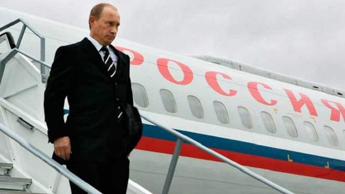 Літак Путіна зафіксували у Криму