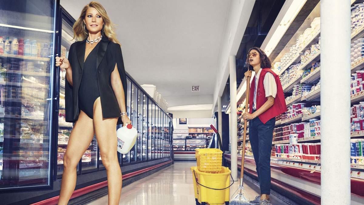 Гвінет Пелтроу оголилась у супермаркеті: з'явились ефектні фото