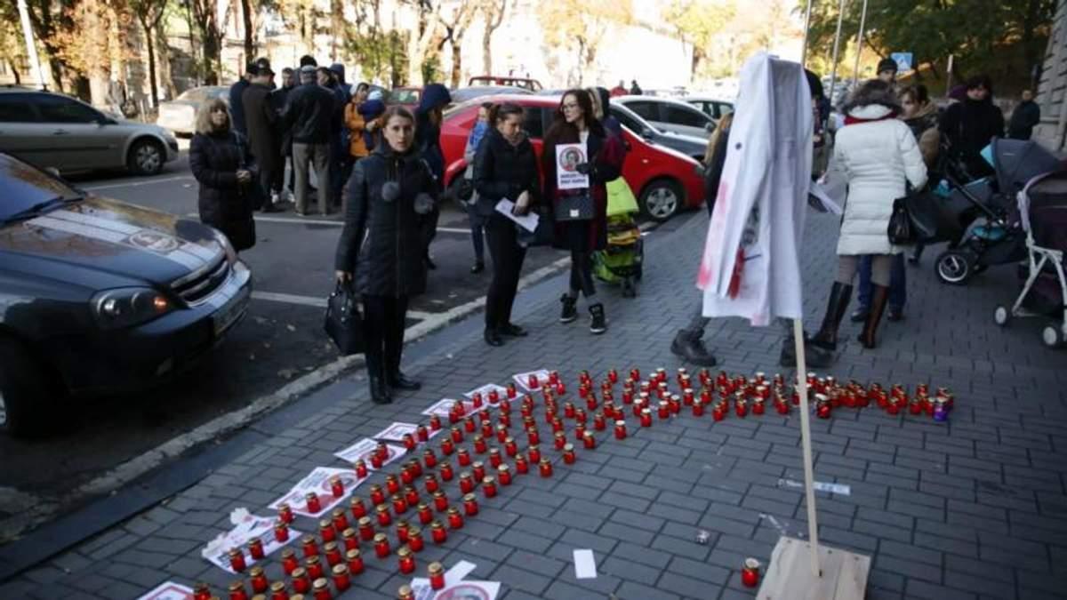 Смерть ребенка спровоцировала пикет матерей во Львове