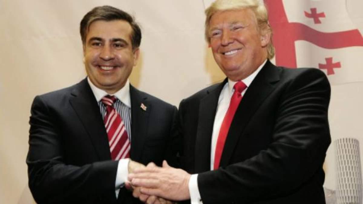 Саакашвили похвастался 20-летним знакомством с Трампом: говорит, что предсказывал его победу