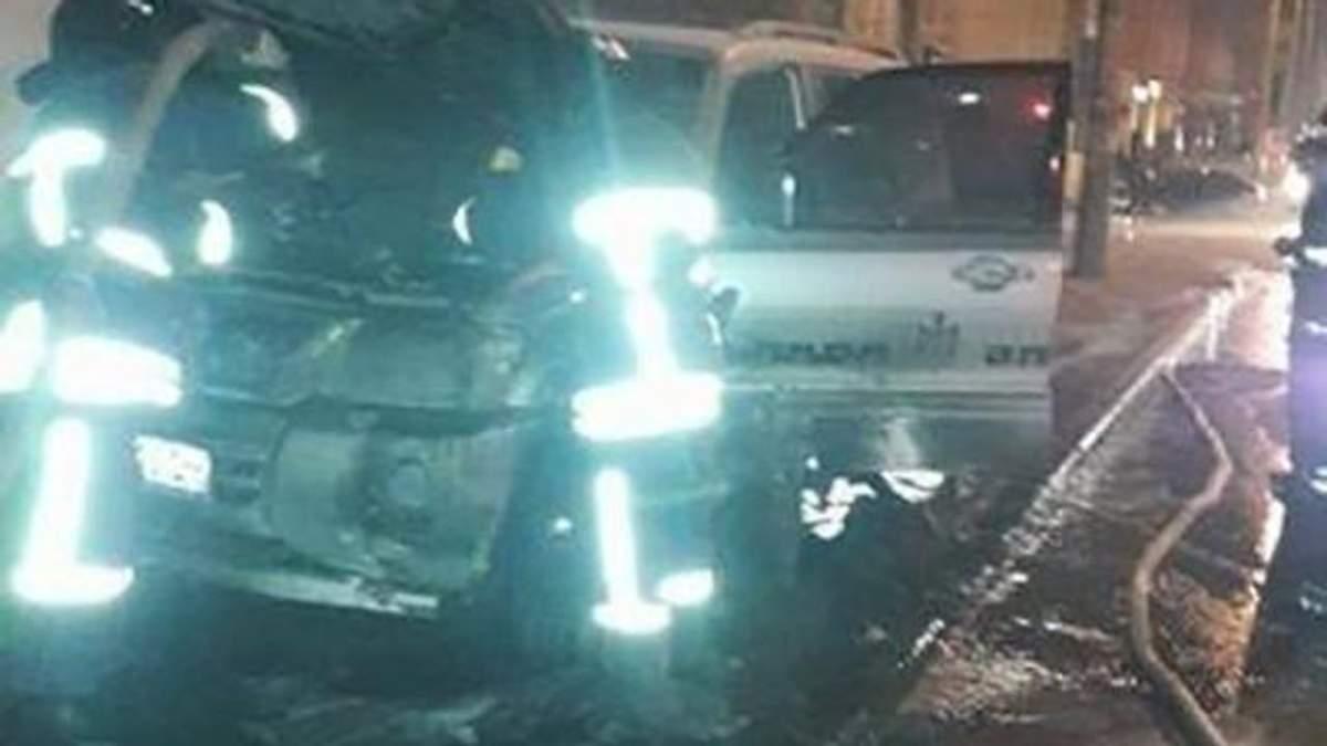 Джип лидера Автомайдана сожгли в Одессе