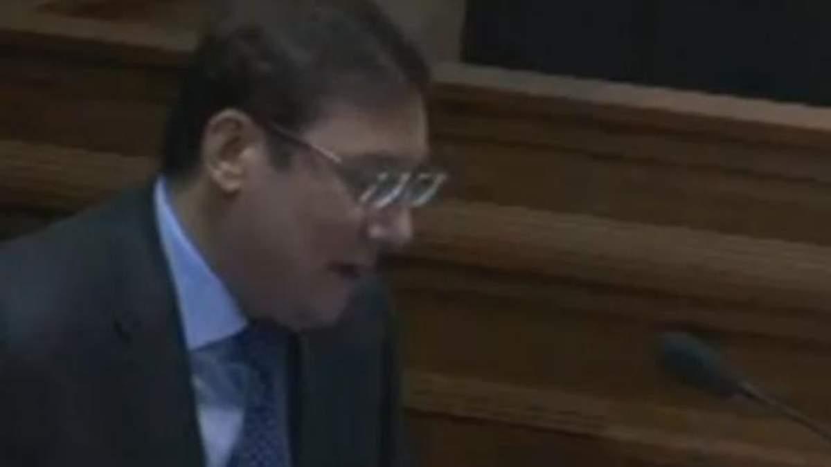 Луценко эмоционально зачитал подозрение Януковичу, но тот его не услышал