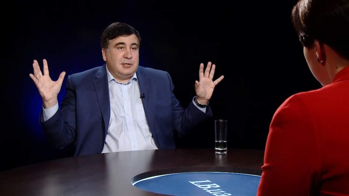 Журналістка в ефірі ток-шоу влаштувала словесну перепалку з Саакашвілі: з'явилось відео