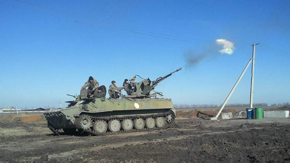 Українські бійці відбили атаку бойовиків на Світлодарській дузі
