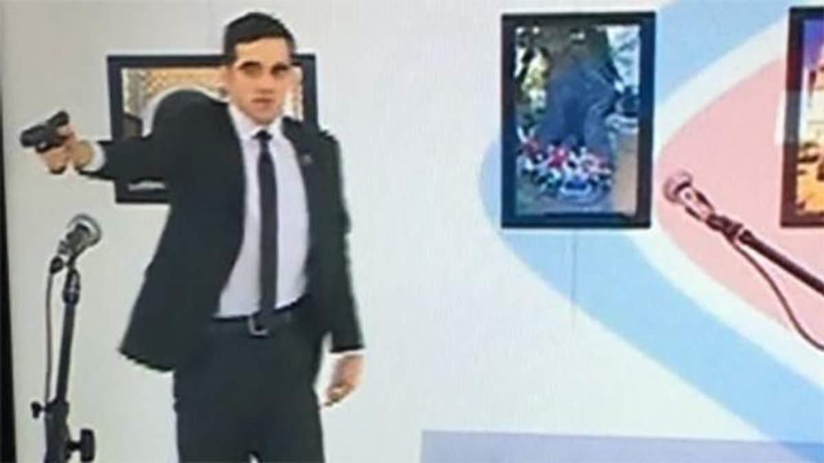 Появилось видео момента расстрела российского посла