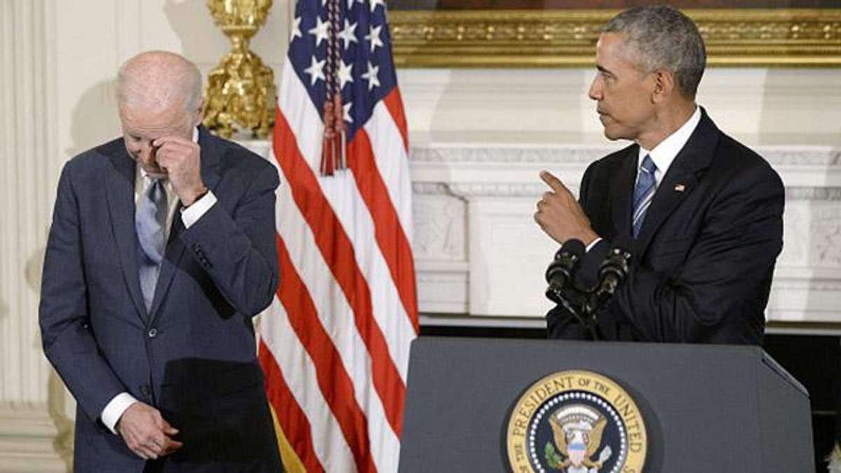 Як віце-президент США Джо Байден розплакався при вручені Медалі Свободи
