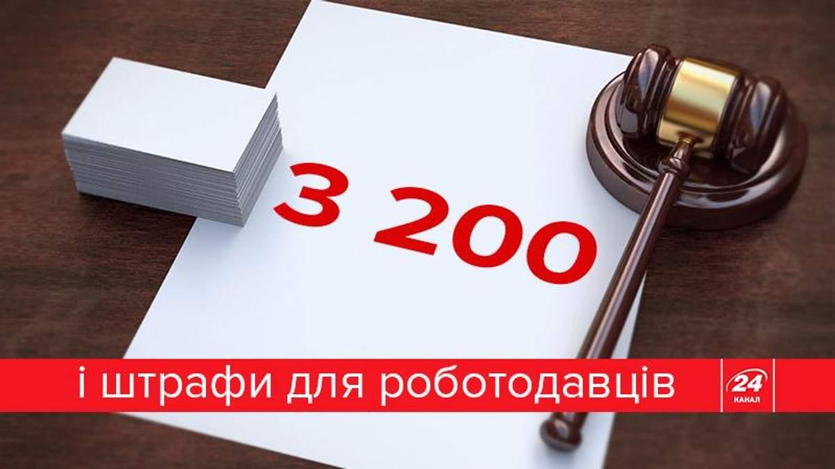 3200 і нові штрафи: хто і як перевірятиме працедавців