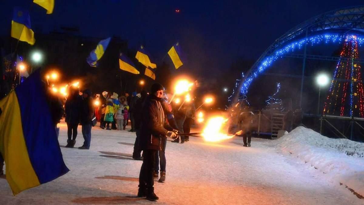 Во время факельного шествия в честь Героев Крут прогремел взрыв в Славянске