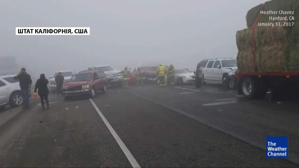 Масштабная авария в Калифорнии: столкнулись 50 авто