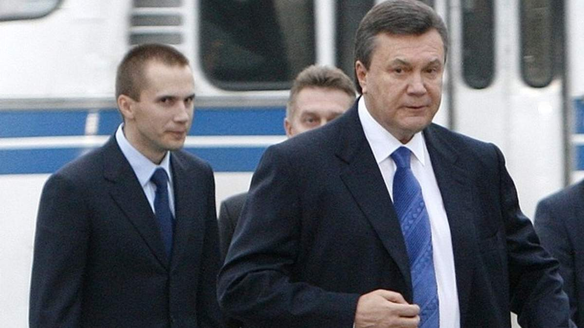 Виктор Янукович и Александр Янукович