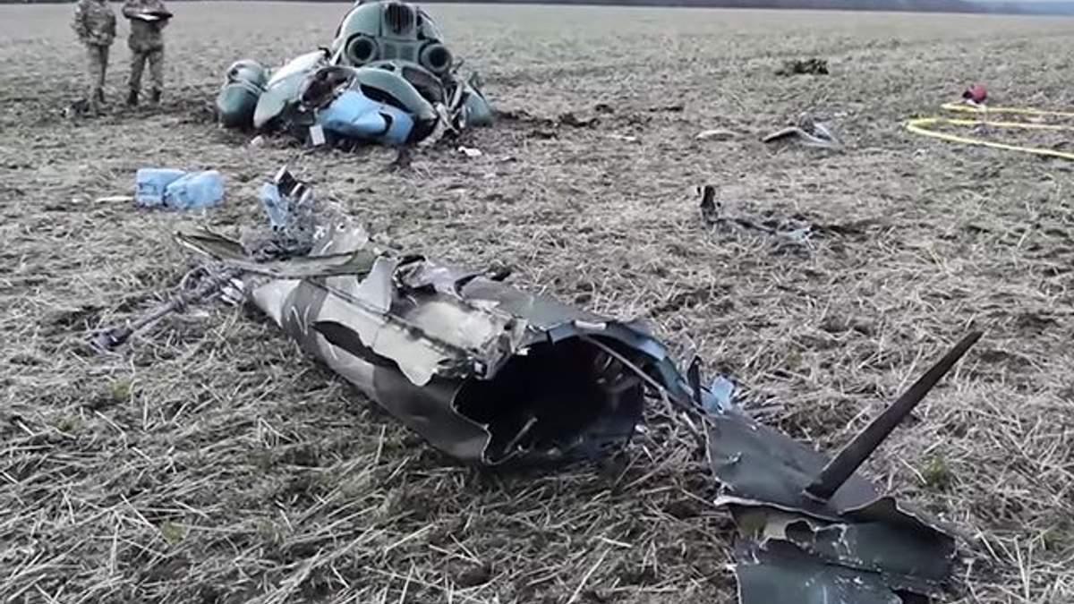 Вертолет Ми-2 разбился вдребезги
