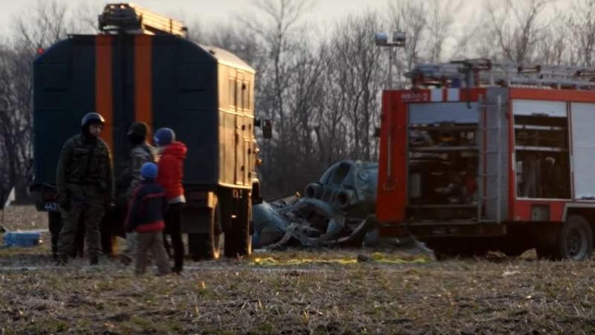 Место аварии Ми-2