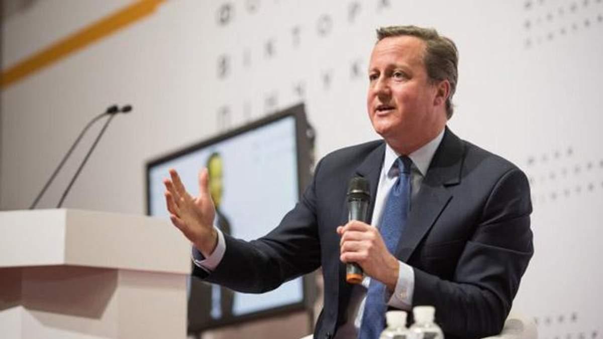 Колишній прем'єр-міністр Британії Девід Кемерон