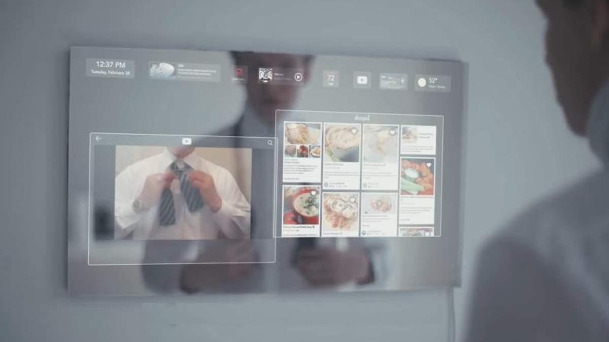 Дзеркало майбутнього, яке має штучний інтелект і сенсорний екран