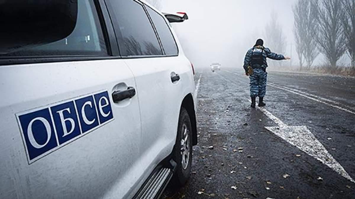 Автомобиль ОБСЕ подорвался на мине