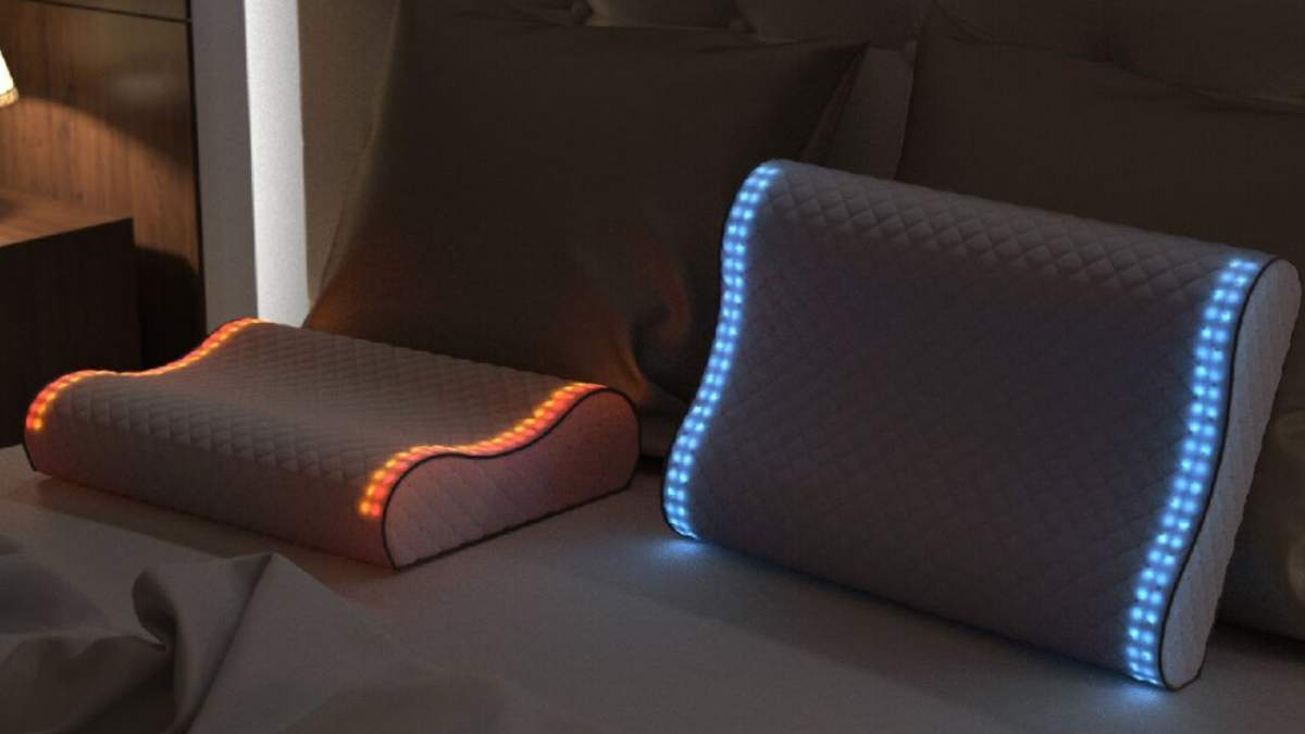 """Sunrise Smart Pillow – """"розумна"""" подушка з функцією нічника, будильника і трекера сну"""