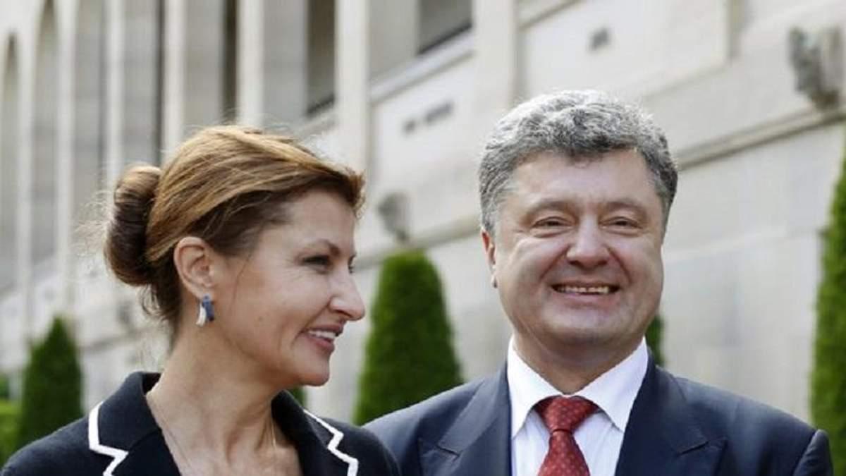 Порошенко зреагував на появу своєї дружини на каналі Ахметова