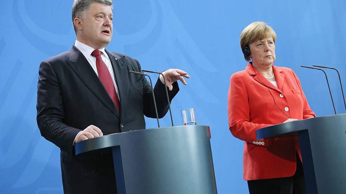 Зустріч Порошенка та Меркель