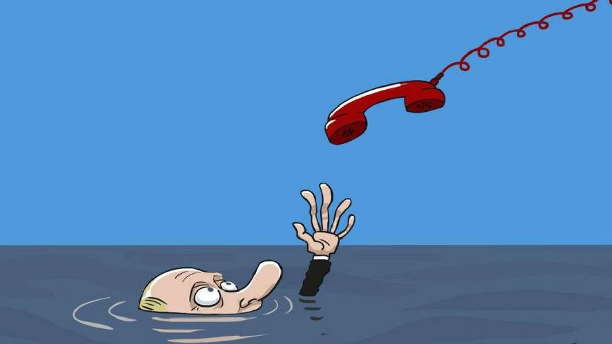 """Карикатурист дотепно висміяв """"пряму лінію"""" Путіна"""