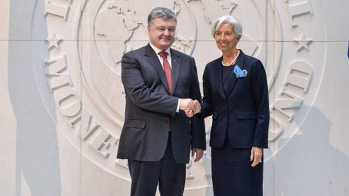 Порошенко встретился с главой МВФ: говорили о пенсионной реформе